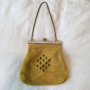 Vintage Beaded Golden Yellow Purse